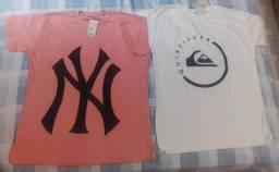 Kit de 2 camisas estampas masculina
