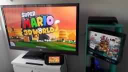 Nintendo Wii U Deluxe Desbloqueado Na Caixa Super Completo e Conservado