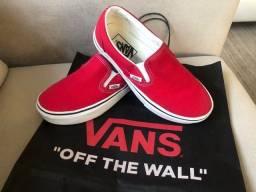 Tênis Vans Slip-on Vermelho Semi-novo 35