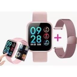 Smartwatch P80 com entrega grátis (Dividimos no cartão)