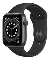 Apple Watch S6 44mm- Preto/Prata/Azul - 12X Sem Juros