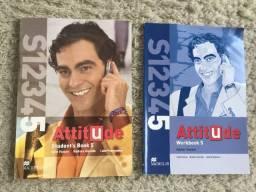 Conjunto De Livros Inglês Attitude 5 Workbook (Exercícios) + Student Book Macmillan Zero!
