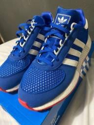Título do anúncio: Tênis Adidas Azul Marathon Tech 40
