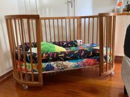 Berço Sleeper Crescer - madeira Jequitibá