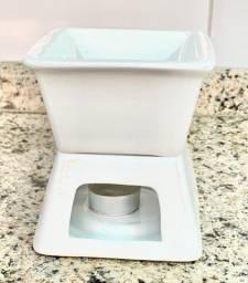 Réchaud Para Fondues Porcelana Branca Pote Pequeno A Vela