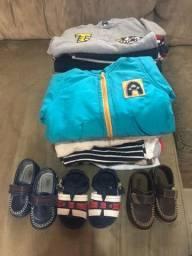 Lote 01 Roupas e calçado (menino)