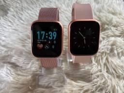 Relógio smartwatch I5 - recebe notificações, monitoramento exércio, troca música