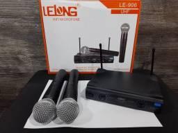 Microfone Duplo sem Fio UHF