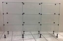 balcão vidro modular  em bom estado