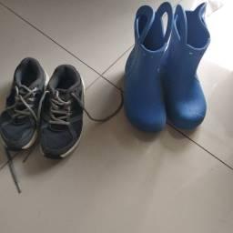 Tênis Nike e Crocs Infantil