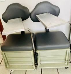 Título do anúncio: 02 Cirandinhas Cadeiras para Manicure Cinza