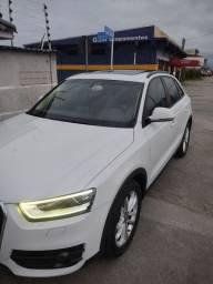 Título do anúncio: Audi q3 branca com banco caramelo e teto solar e panorâmico