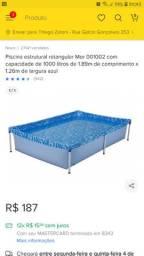 Piscina 1000 litros mor com FILTRO