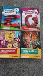 Livro didático Matematica Bianchini : 6, 7, 8, 9