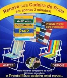 Kit Refil Tecido para Cadeira de Praia Alta - Entrego com pequena Taxa