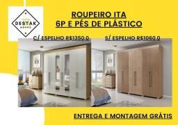 ? 023- Guarda roupas c/ espelho  mega promoção direto da fábrica!(@^:&/×)