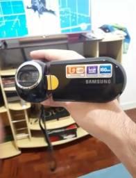 Câmera Filmadora Samsung Zoom Ótico 10x Cartão Sd