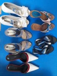 Lote com 5 pares de sapatos Tam. 35