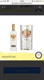 Smirnoff gold collection -flocos de ouro