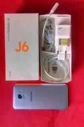 Samsung J6 Novo 64g prata