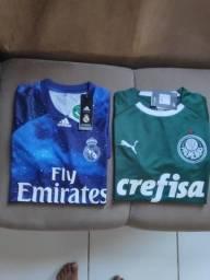 Camisa Real Madrid EA Game e Palmeiras Home