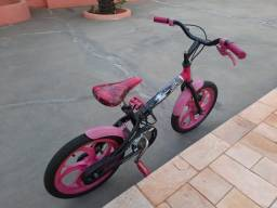 Bicicleta Caloi Monster High Infantil - Aro 16 - Preto e Pink