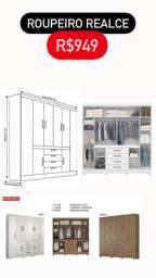 Guarda roupa casal 8 portas 4 gavetas