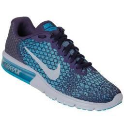 Tênis Nike Air Max Sequent 2 Feminino - Roxo E Azul