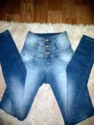 Calça jeans - cintura alta - NOVA