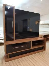 Rack com painel + TV + armário. 100% MDF. Produto Novo!