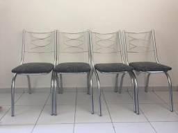 Vendo jogo de 04 cadeiras inox