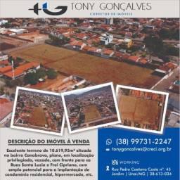 Excelente terreno de 10.619,95m² situado no bairro Canabrava | Unaí/MG