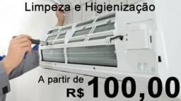 Manutenção e Higienização de ar condicionado