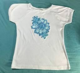 Blusa De Malha Feminina Com estampa de flores