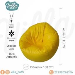 Puff, Pufi, Puffs - Gota G amarelo - A pronta entrega