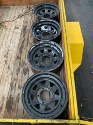 Jogo 5 Rodas De Ferro 15  F1000 F100 Jeep Willys D10 C10 Tala 8 Original Mangels 6x139,7