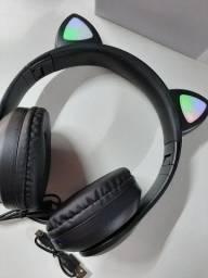 Fone Bluetooth com orelhas led