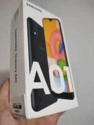 Samsung A01 32gb preto , lacrado, R$ 600