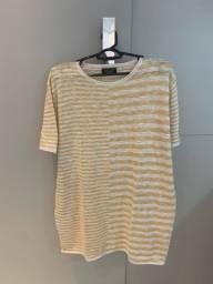 Camiseta Zara M (leve tricot)