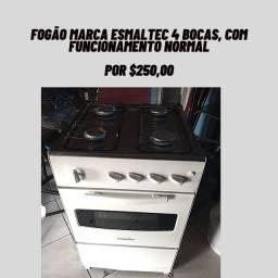 Fogão funcionando normalmente as bocas e o forno