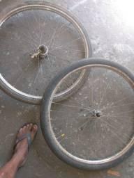 Par de aro 26 freio de pé antigo