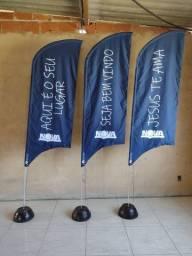 Título do anúncio: Wind Banner flag bandeira R$169,90 completo