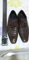Sapato social marrom com cinto