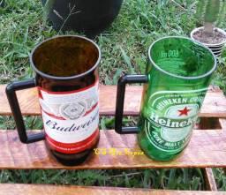 Canecões Heineken ou Budweiser ( kit com 2)
