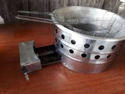 Fritadeira à gás+Máquina batata