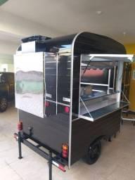 Trailer Food Truck com churrasqueira Pronta Entrega Espetinhos / churrasco