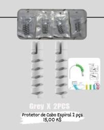 Título do anúncio: Protetor de cabo espiral 2 pcs