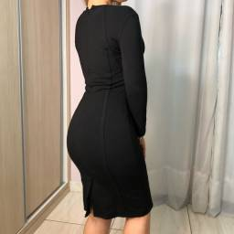 Vestido preto Armani Exchange (original)