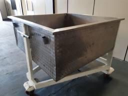 Silo Industrial móvel em Inox