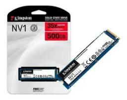 SSD M.2, Kingston NV1 500GB,2280 NVMe, Leitura: 2100MB/s e Gravação: 1700MB/s Novo